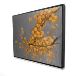 Framed 36 x 48 - 3D - Golden wattle plant with pugg ball flowers