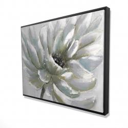 Framed 36 x 48 - 3D - White chrysanthemum