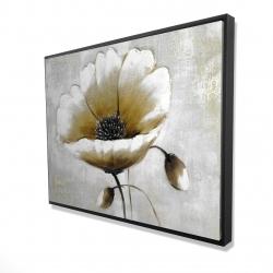 Framed 36 x 48 - 3D - Modern beige flower
