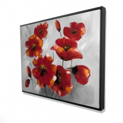 Framed 36 x 48 - 3D - Anemone flowers