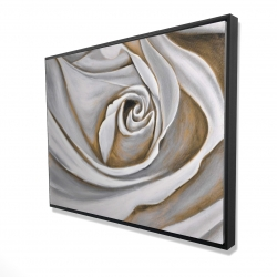 Framed 36 x 48 - 3D - White rose closeup