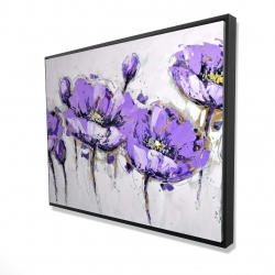 Framed 36 x 48 - 3D - Abstract purple flowers