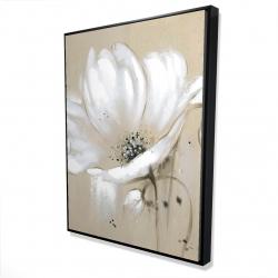 Framed 36 x 48 - 3D - White abstract wild flower