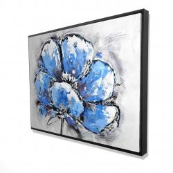 Framed 36 x 48 - 3D - Abstract blue petals