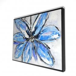 Framed 36 x 48 - 3D - Blue flower