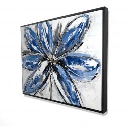 Framed 36 x 48 - 3D - Blue petal