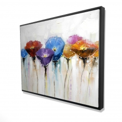Framed 36 x 48 - 3D - Colorful flowers