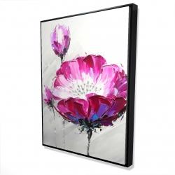 Framed 36 x 48 - 3D - Fuchsia wild flower