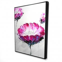 Framed 36 x 48 - 3D - Pink wild flowers