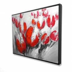 Framed 36 x 48 - 3D - Red tulips