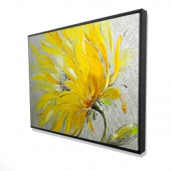 Framed 36 x 48 - 3D - Yellow flower