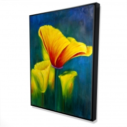 Framed 36 x 48 - 3D - Beautiful colorful flowers
