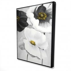 Framed 36 x 48 - 3D - Assorted white flowers