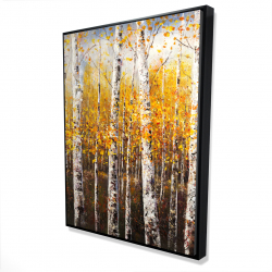 Framed 36 x 48 - 3D - Birches by sunny day