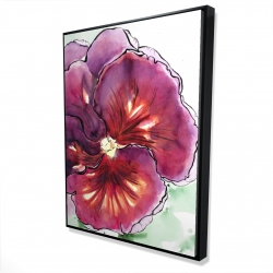 Framed 36 x 48 - 3D - Blossoming orchid with wavy petals