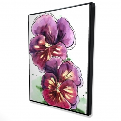 Framed 36 x 48 - 3D - Two blossoming orchid with wavy petals