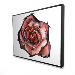 Framed 36 x 48 - 3D - Watercolor rose