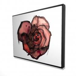 Framed 36 x 48 - 3D - Dark rose