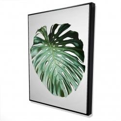 Framed 36 x 48 - 3D - Monstera leaf