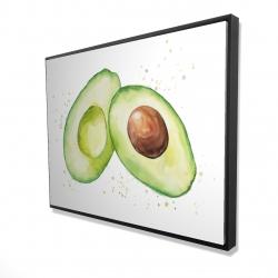 Framed 36 x 48 - 3D - Watercolor open avocado