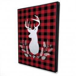 Framed 36 x 48 - 3D - Deer plaid