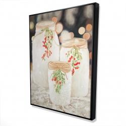 Framed 36 x 48 - 3D - Christmas candles