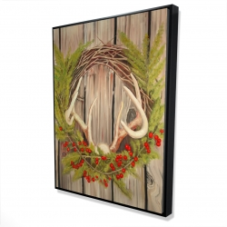 Framed 36 x 48 - 3D - Christmas wreath with panache