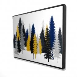 Framed 36 x 48 - 3D - Golden fir