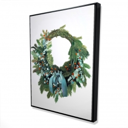 Framed 36 x 48 - 3D - Christmas wreath