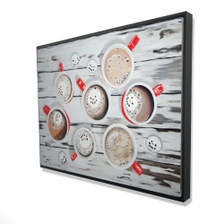 Framed 36 x 48 - 3D - Holiday hot chocolate