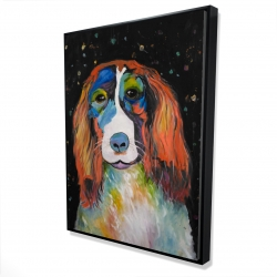 Framed 36 x 48 - 3D - Colorful dog