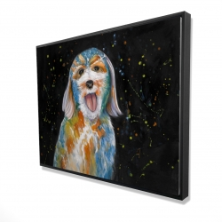Framed 36 x 48 - 3D - Abstract labradoodle
