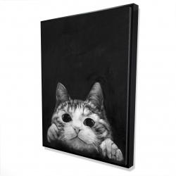 Framed 36 x 48 - 3D - Curious cat