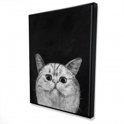 Framed 36 x 48 - 3D - Watching cat