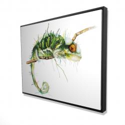Framed 36 x 48 - 3D - Chameleon on the lookout