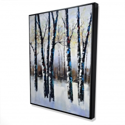 Framed 36 x 48 - 3D - Frosted trees