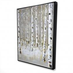Framed 36 x 48 - 3D - Birch forest by winter