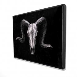 Framed 36 x 48 - 3D - Ram skull grunge style