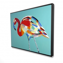 Framed 36 x 48 - 3D - Abstract flamingo