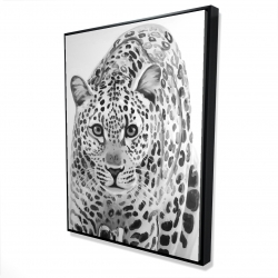 Framed 36 x 48 - 3D - Leopard ready to attack