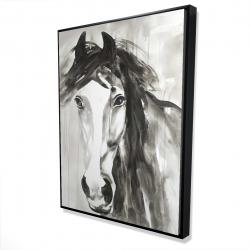 Framed 36 x 48 - 3D - Beautiful wild horse