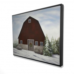 Framed 36 x 48 - 3D - It's winter on the farm