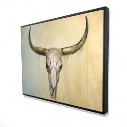 Framed 36 x 48 - 3D - Cow skull
