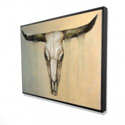 Framed 36 x 48 - 3D - Bull skull