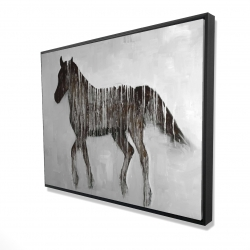 Framed 36 x 48 - 3D - Gambading abstract horse