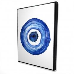 Framed 36 x 48 - 3D - Erbulus blue evil eye