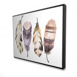 Framed 36 x 48 - 3D - Purple feather set