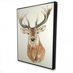 Framed 36 x 48 - 3D - Front deer portrait