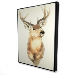 Framed 36 x 48 - 3D - Deer portrait