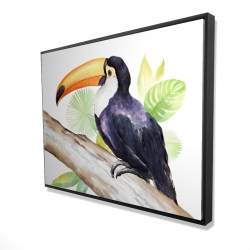 Framed 36 x 48 - 3D - Toucan perched